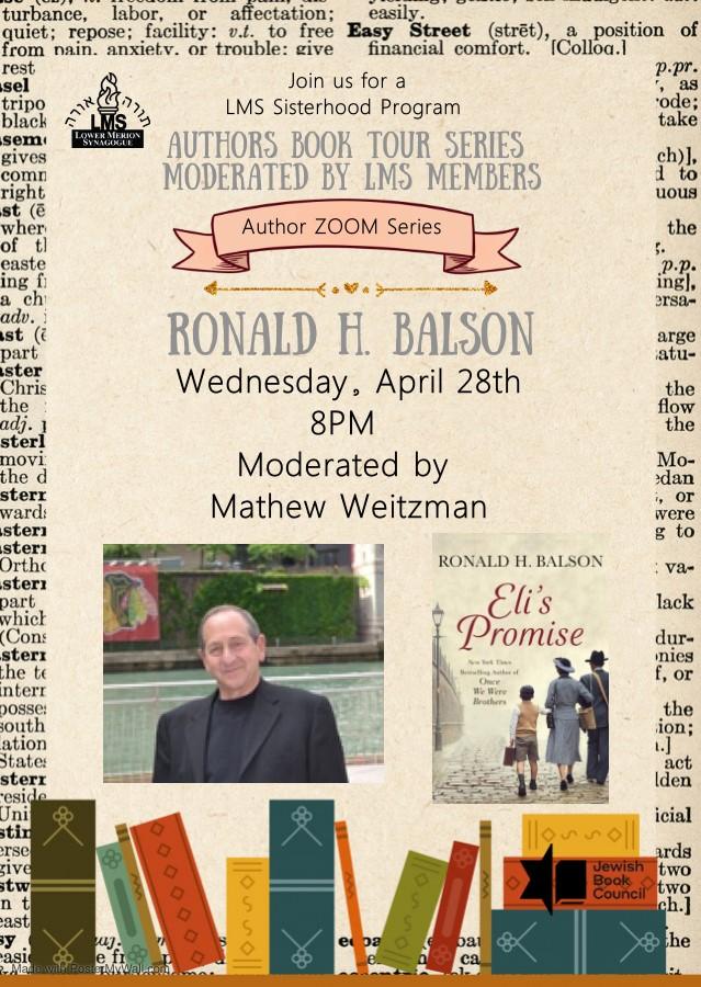 "</a>                                                                                                                                                                                      <a href=""https://www.amazon.com/Elis-Promise-Ronald-H-Balson/dp/1250271460"" class=""slider_link""                             target="""">                             To Purchase Ronald Balson's Book: Eli's Promise Click Here                            </a>"