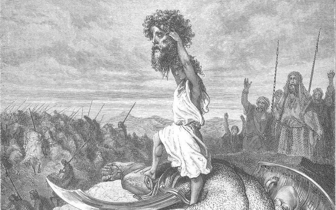 David w Goliath head