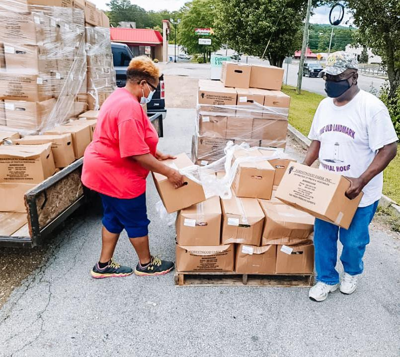USDA Food Box Distribution in Alabama