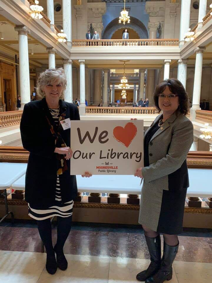 Diane Huerkamp with Rep. Mayfield