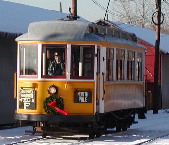 Shore Line Trolley Christmas Decoration