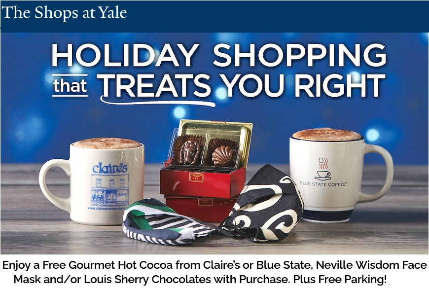 Shops at Yale Holiday Promotion