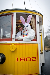 Easter Bunny at Shore Line Trolley Museum
