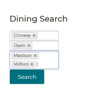 Dining Search Box