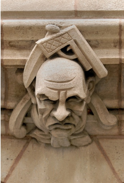 Grotesque at Yale Sterling Law Building