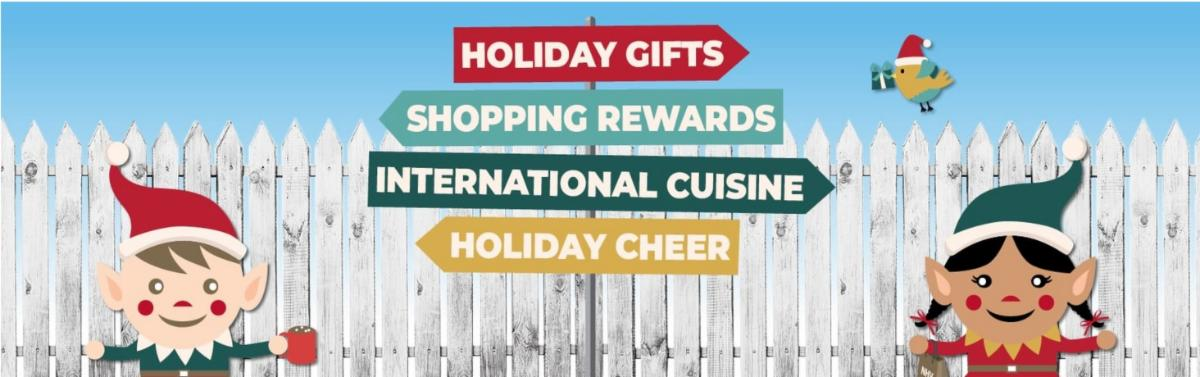 Info New Haven Holiday Graphic with Elves