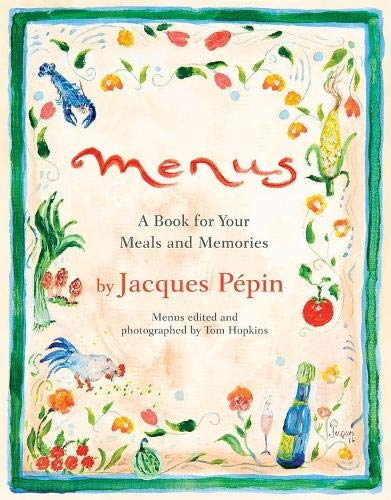 Jacques Pepin Menu Bookcover