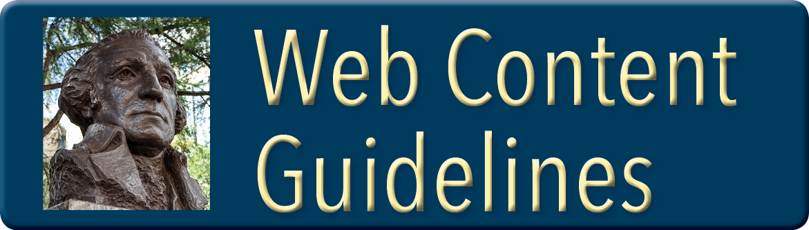 Button linking to Website guidelines
