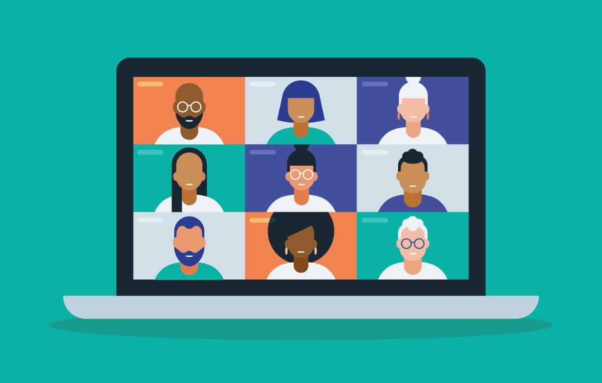 Virtual meeting graphic