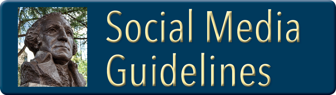 Button linking to Social Media Guidelines