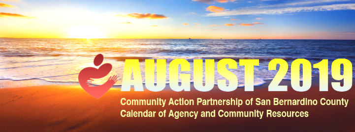 August 2019 Calendar Of Agency And Community Resources