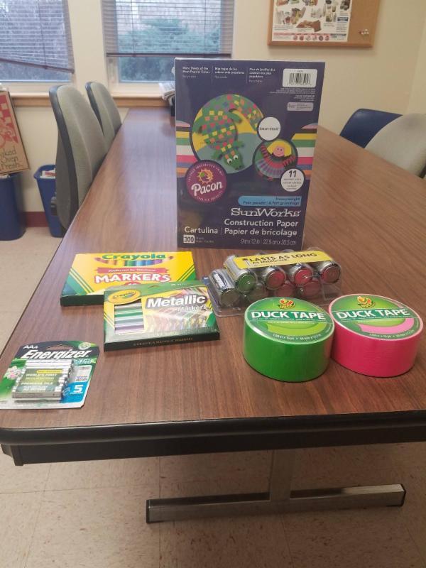 School Supplies for King Street Center