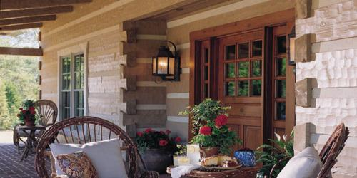 Log Home with Lifeline Finish