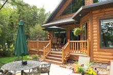 lifeline finish on strongwood log home