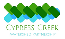 Cypress Creek Watershed Partnership wordmark with green and blue design above