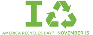 America Recycles Day logo with Recycle symbol