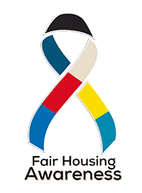 Multi-colored fair housing awareness ribbom