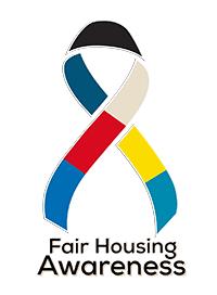 Multi-colored fair housing awareness ribbom