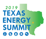 2019 Texas Energy Summit written over an outline of the state of Texas