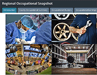 screen shots of occupations medical mechanical aerospace technology
