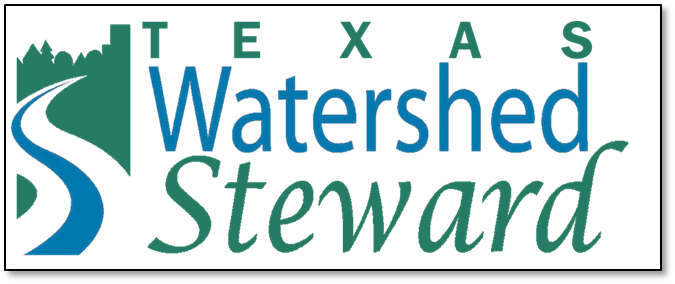 Texas Watershed Steward logo with stylized waterway