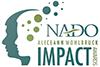 NADO impact award logo with faces and dots