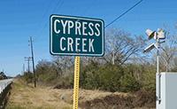 Cypress Creek sign