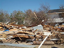 Hurricane Ike - Debris Pile, Bolivar Peninsula, Galveston County