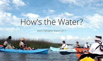Canoes in water 2017 Basin Highlights Report cover