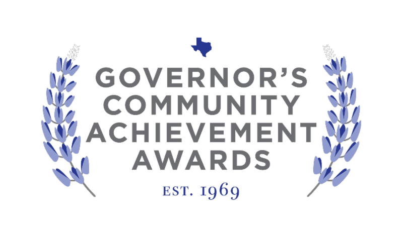 Governors Community Achievement Awards framed by laurels