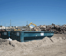roll off containers for debris collection