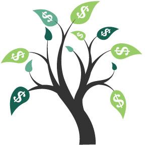 Tree with $ Money