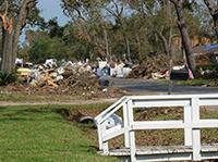 Debris from Hurricane Ike