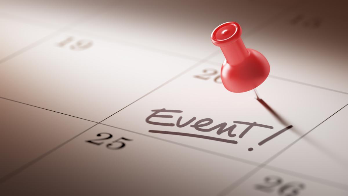 Calendar showing Event