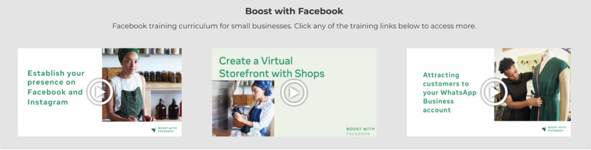 Boost with Facebook videos image
