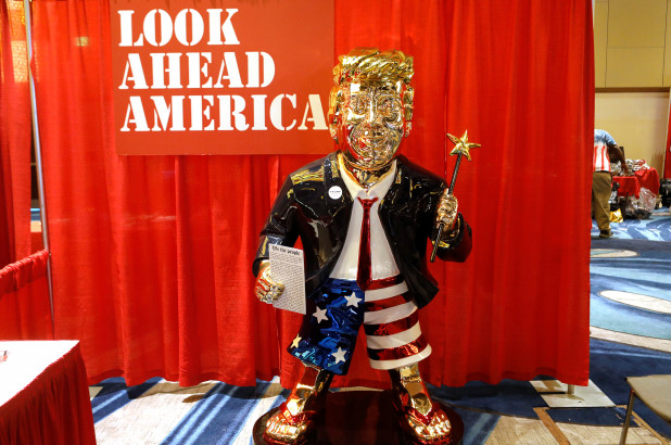Gold Donald Trump statue
