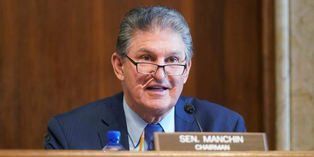 Senator Joe Manchin at dias