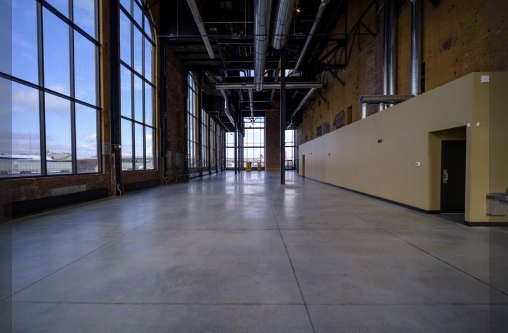 Large, expansive office space without furniture