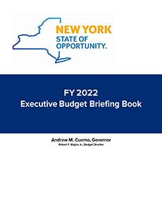 Cover of FY2022 NY State Budget