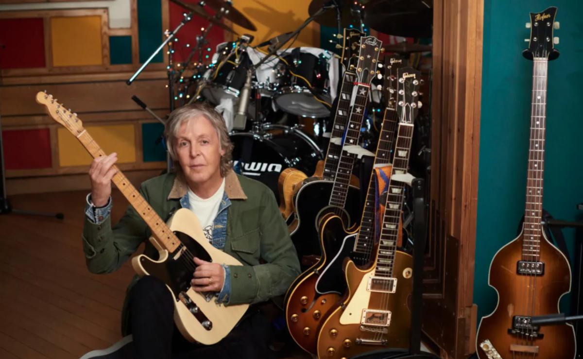 Sir Paul McCartney in his home studio