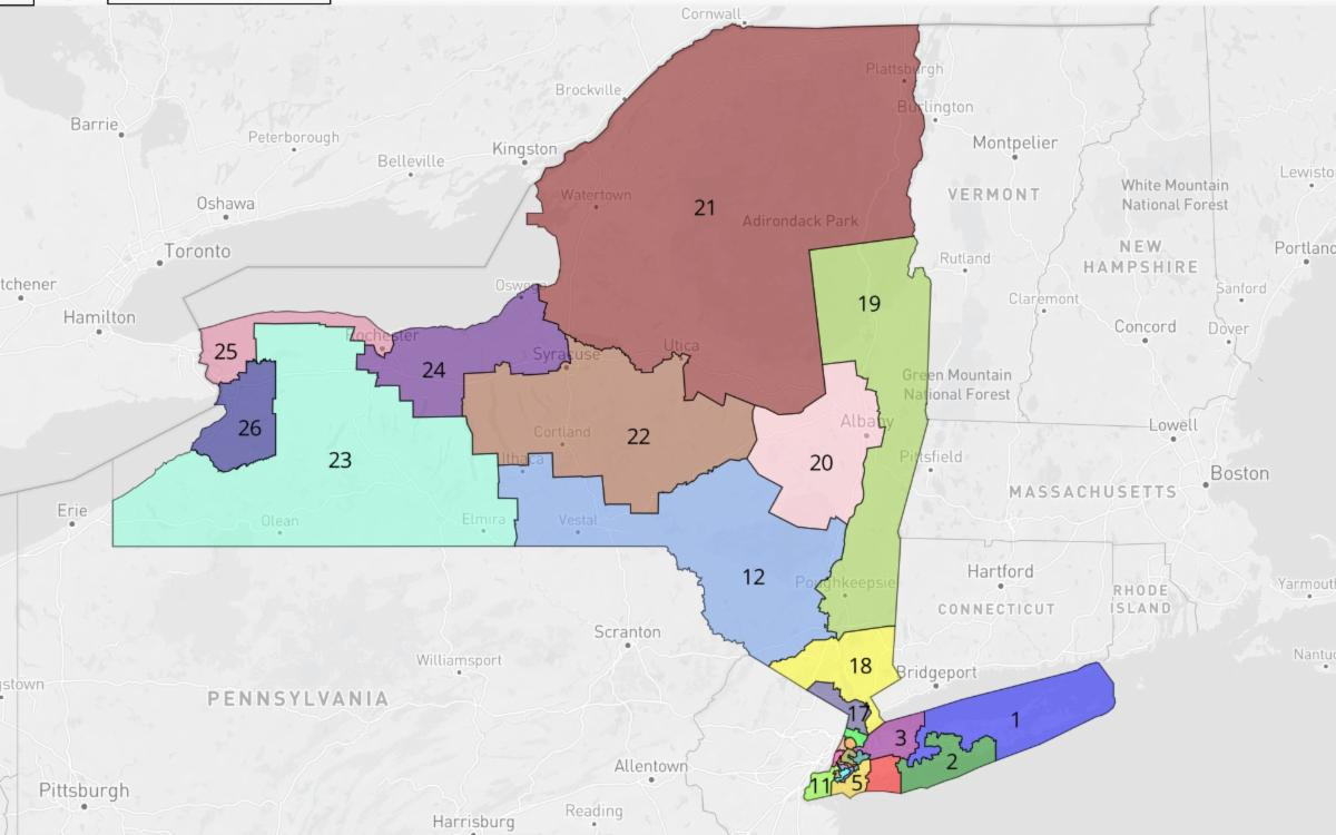 map of new york congressional districts