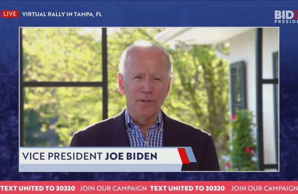 Joe Biden on a TV interview