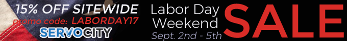 SERVOCITY - Labor Day Weekend Sale