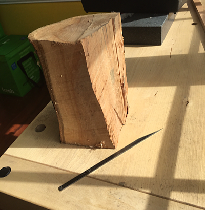 Retail 6-2019 Brendan Wynne's Apple Wood Block and Violin Knife Blank