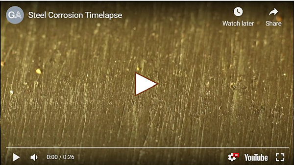 Retail 1-2021 Steel Corrosion Timelapse Video by Galvanizers Association