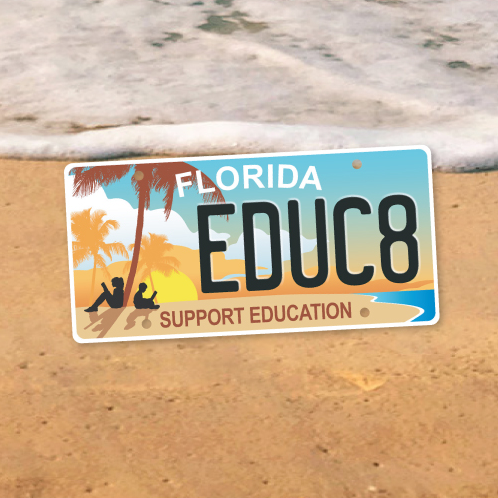 New Support Education License Plate