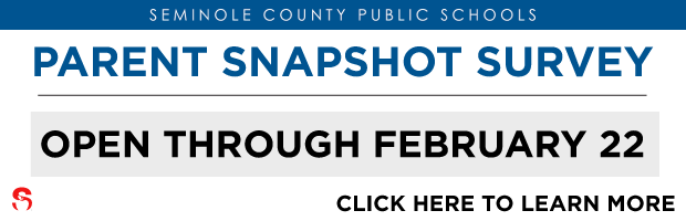 Parent Snapshot Survey now through February 22