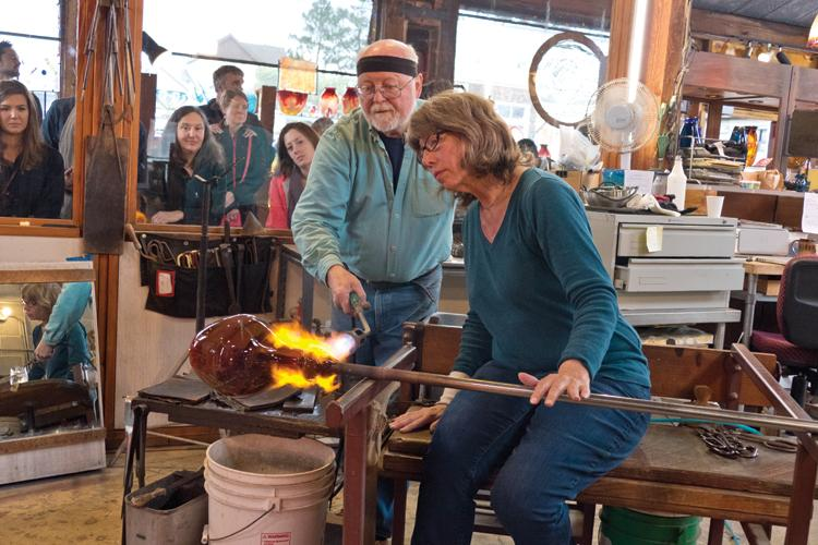 Glassblowing at Stormy Weather Arts Festival
