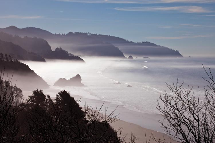 Arcadia Beach from viewpoint south of Cannon Beach