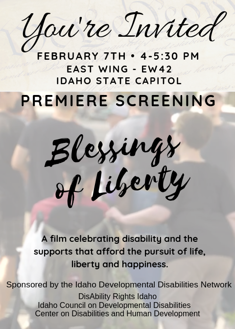 Blessings of Liberty invitation.